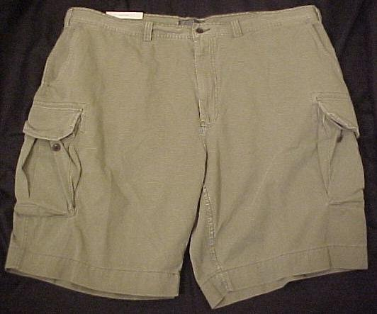 Polo Ralph Lauren Chino Freighter Cargo Shorts Green 48 Big Tall Men's Clothing 601641