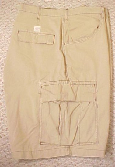 Ralph Lauren Polo Jeans Company Freighter Cargo Shorts Khaki 50 Big Tall Mens Clothing 601681