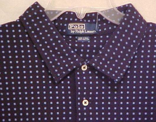 Polo by Ralph Lauren Golf Collar Pull Over Shirt  2XL 2X Big Tall Men's Clothing 601751