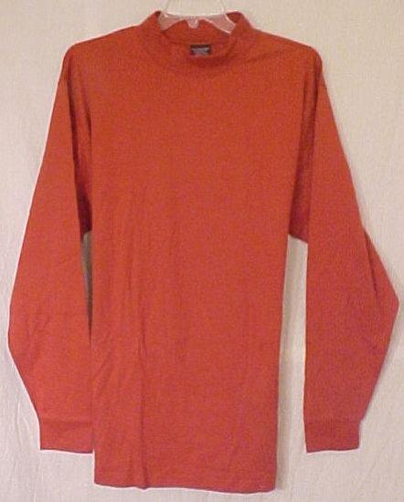 New Long Sleeve Orange Mock Neck Collar Shirt 3XLT 3XT 3X Tall Big Tall Men's Clothing 702001
