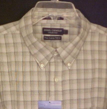 New Daniel Cremieux Button Down Long Sleeve Shirt Grey Pld 2X 2XL Big Tall Men's Clothing 702111