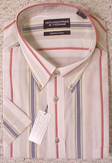 New Wrinkle Free Button Down Short Sleeve Shirt Size 3X 3XL Big Tall Mens Clothing 702291