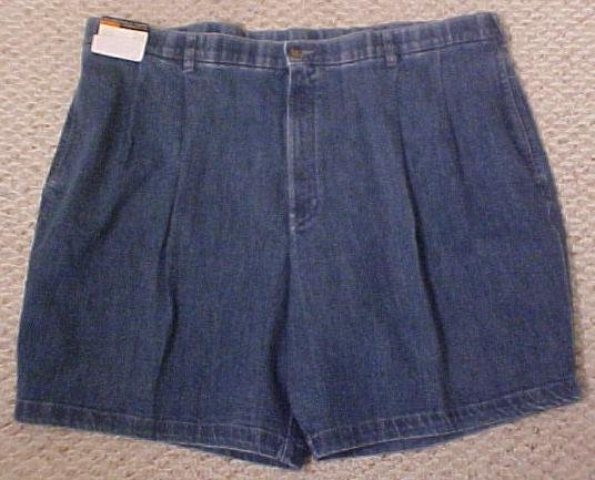 NEW Dressy Denim Walking Golf Shorts Size 48 Big Tall Mens Clothing 702361