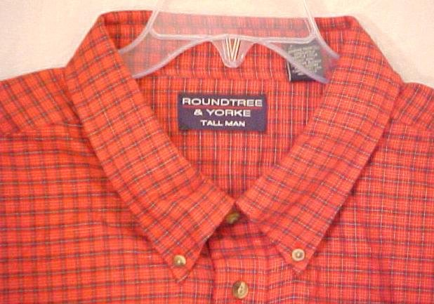 NEW Roundtree & Yorke Button Down Long Sleeve Shirt  4XL 4X Big Tall Men's Clothing 107591
