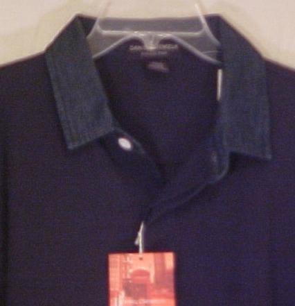 Daniel Cremieux Polo Denim Collar Shirt Jersey 2XL 2X Big & Tall Men's Clothing 702501