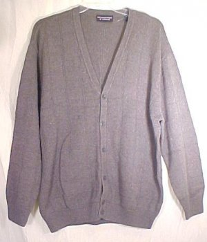 NEW Gray Button Down Cardigan V Neck Long Sleeve Sweater 3XLT 3XT Big Tall Mens Clothing 702631