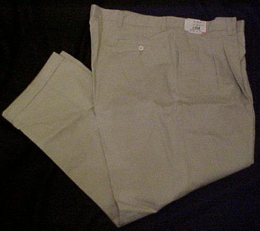 New Roundtree & Yorke Casual Khaki Pants Putty Size 44 X 30 Big Tall Mens Clothing 702661