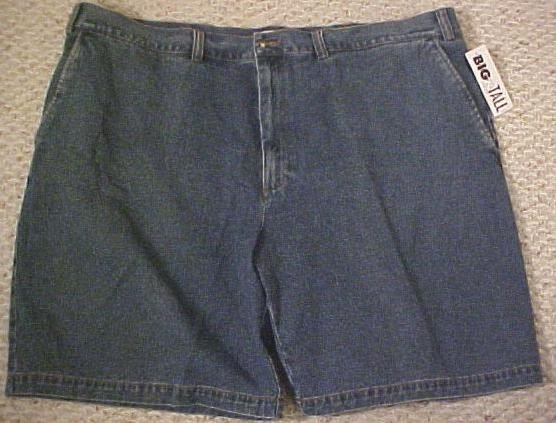 St. John's Bay Denim Jeans Walking Golf Shorts Blue Size 50 Big Tall Mens Clothing  410281