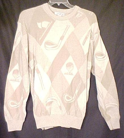 Golf Ball Club Sweater Pull Over Long Sleeve Crew Neck 2XLT 2XT Big Tall Mens Clothing 803191