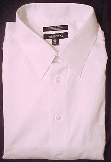 New Murano White Point Dress Shirt 20 - 35 Long Sleeve Big Tall Mens Clothing 803201