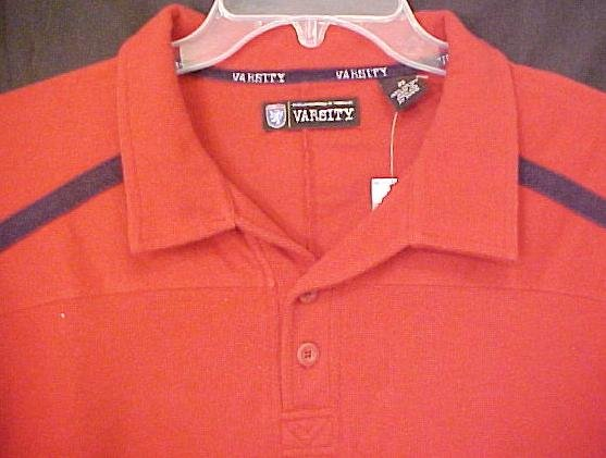 Varsity Polo Shirt Pull Over Golf Collar Size 2X 2XL Big Tall Men's Clothing 803471
