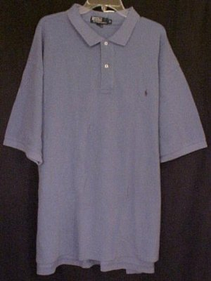 New Polo Ralph Lauren Short Sleeve Blue Polo Shirt 3X 3XL Big Tall Men's Clothing 906331