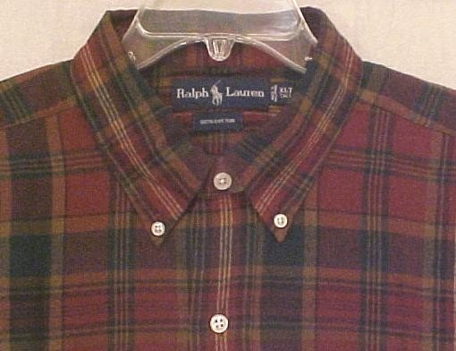 New Ralph Lauren Long Sleeve Button Down Shirt Size 2X 2XL Big Tall Mens Clothing 904721
