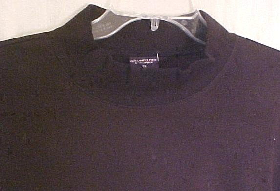 New Black Mock Neck Pull Over Shirt 3XL 3X Big Tall Men's Clothing 905061-3