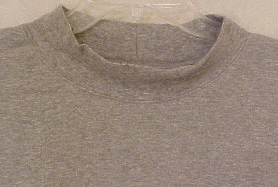 New Gray Mock Neck Pull Over Shirt 3XL 3X Big Tall Men's Clothing 904971-2
