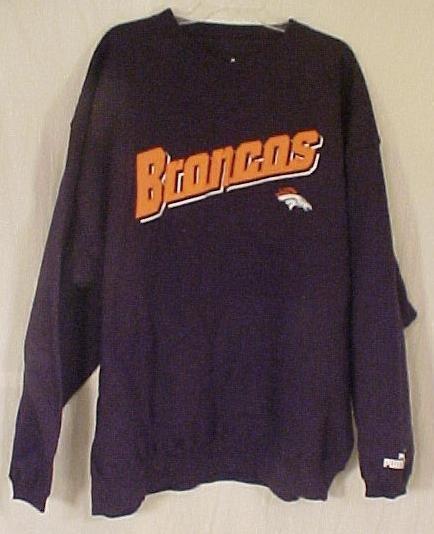 New PUMA Sweatshirt BRONCO NFL Football 2X 2XL Big Tall Men Clothing  905901