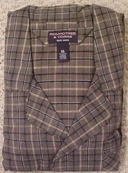 New Long Sleeve Button Down Flannel Pajama's PJ's Size 4X 4XL Big Tall Mens Clothing 10151