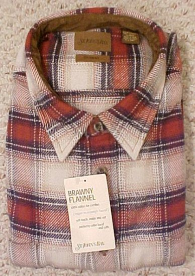 New Heavy Brawny Flannel Button Front Shirt Size 3X 3XL Big Tall Mens Clothing 10171