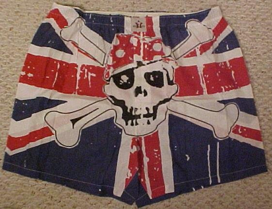 NEW Men's Seven Days Boxers SKULL Rebel XL Waist 40 21551