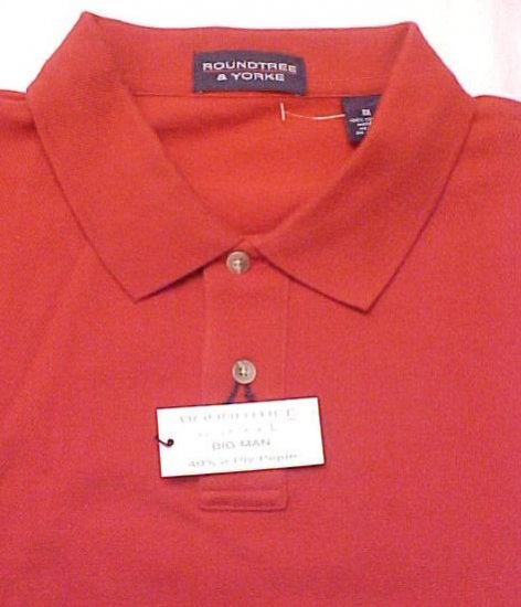 NEW POLO GOLF Shirt Red Short Sleeve Size 3X 3XL Big Tall Mens Clothing 32171