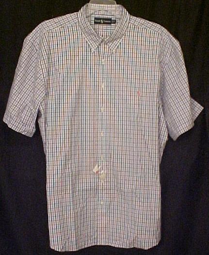 Ralph Lauren Button Down Shirt Short Sleeve Size 2X 2XL Big Tall Men's Clothing 32491
