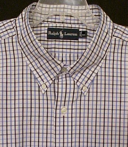 Ralph Lauren Button Down Shirt Short Sleeve Sz 2XT 2XLT 2LT Big Tall Men's Clothing 32501
