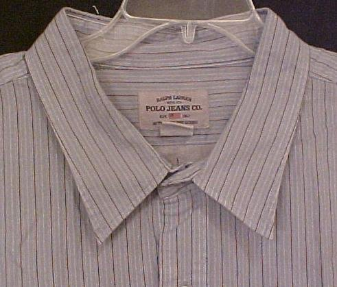 NEW Ralph Lauren Polo Jeans Company Button Down Shirt 3XL 3X Big Tall Mens Clothing 106961
