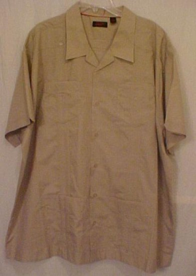 Cuban Guayabera Mexican Wedding Shirt Size 3XL 3X Big Tall Men's Clothing 63011-2
