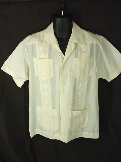 Cuban Guayabera Mexican Wedding Shirt Embroidered Size 3XLT 3XT Big Tall Men's Clothing 63071