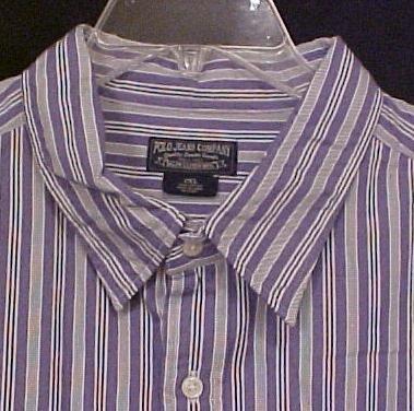 Ralph Lauren Jean Button Down Shirt Long Sleeve 2X 2XL Big Tall Mens Clothing 810111