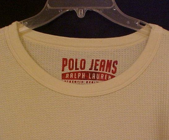 New Ralph Lauren Polo Jeans Long Sleeve Thermal Shirt Size 3XL 3X Big Tall Mens Clothing  810261