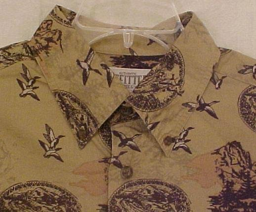 New Button Down Wildlife Duck Hunter Shirt Size XLT Ex-Large Tall Big Tall Men's Clothing 904941