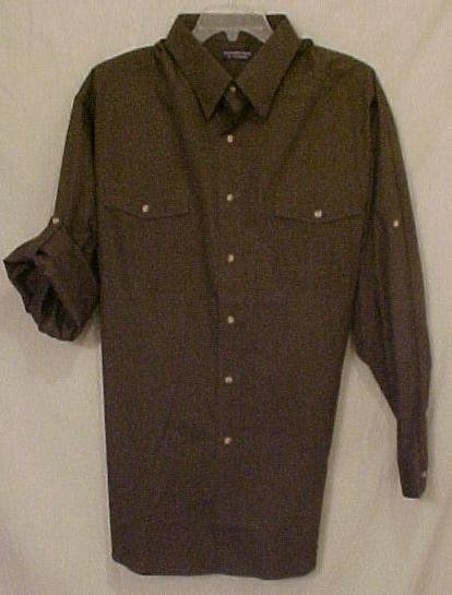 New Button Front Long Sleeve 2 Pocket Shirt Sz 3XL 3X Big Tall Mens Clothing 811051