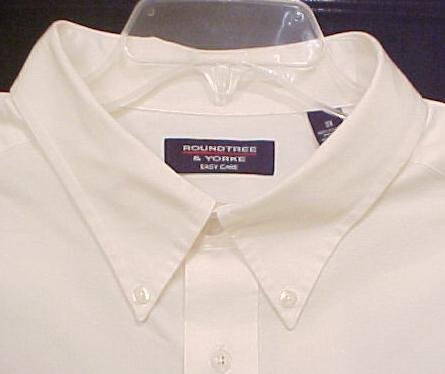 New White Short Sleeve Button Front Dress Shirt Size 3X 3XL Big Tall Mens Clothing 811121