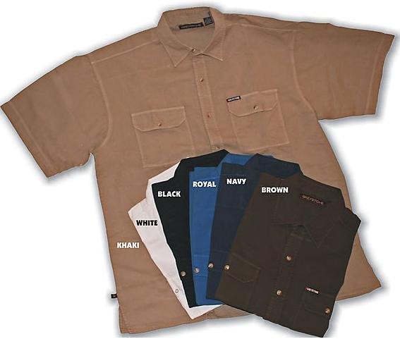 Khaki Short Sleeve Sport Shirt 4X Big & Tall Mens Clothing 2100