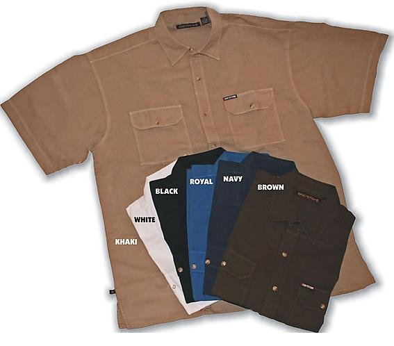 Brown Short Sleeve Sport Shirt 6X Big & Tall Mens Clothing 2100
