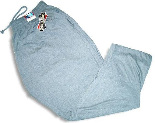 Grey Elastic Jersey Pant Pants 4X Big & Tall Mens Clothing 1205