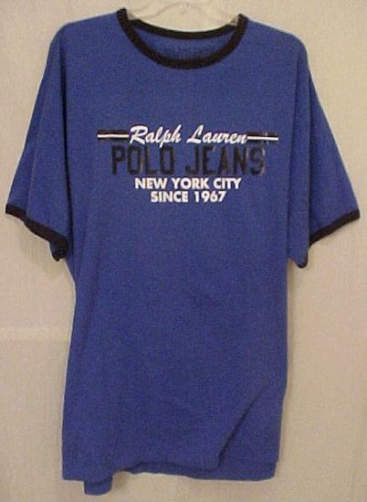 NEW Polo Jeans Ralph Lauren T-Shirt Blue 3XLT 3XT Big Tall Mens Clothing 32611