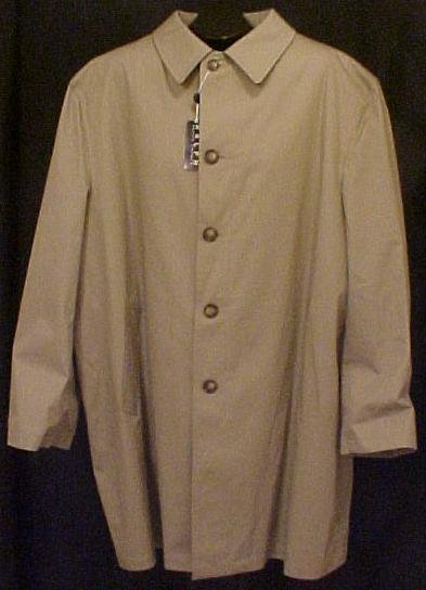 New Ralph Lauren Raincoat Coat Denton Size 2X 2XL Big Tall Men's Clothing