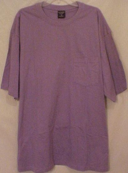 NEW Purple Pocket T-Shirt Short Sleeve Size 3XL 3X Big Tall Men's Clothing 913321