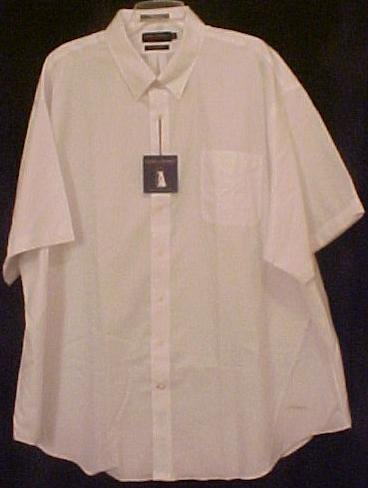 New Daniel Cremieux Button Down White Shirt S/S Size 3XT 3XLT Big Tall Mens Clothing 913521