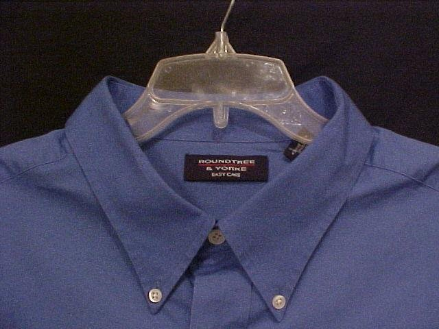Big Mens Dress Shirt Button Down Short Sleeve Blue Size 4X 4XB 4XL - 913741
