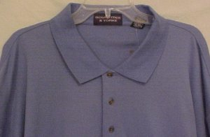Big Tall Mens Long Sleeve Casual Polo Shirt Size 4XT 4XLT - 913931