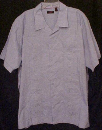 Cuban Guayabera Mexican Wedding Shirt S/S Size 4XT 4XLT Big Tall Mens - 914301