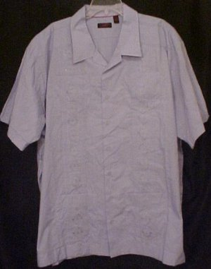 Cuban Guayabera Mexican Wedding Shirt S/S Size 4XT 4XLT Big Tall Mens - 914301