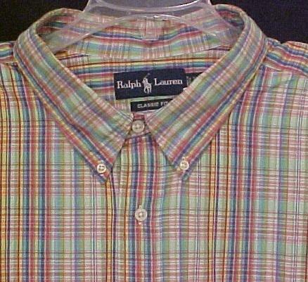 New Ralph Lauren Short Sleeve Button Front Shirt Size 3X 3XL Big Men's Clothing 912081