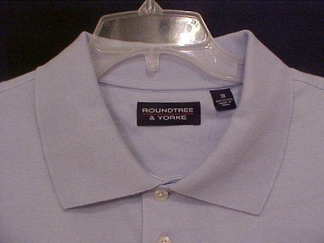 Light Blue Polo Golf Shirt S/S Pocket Size 3X 3XL Big Mens 914311