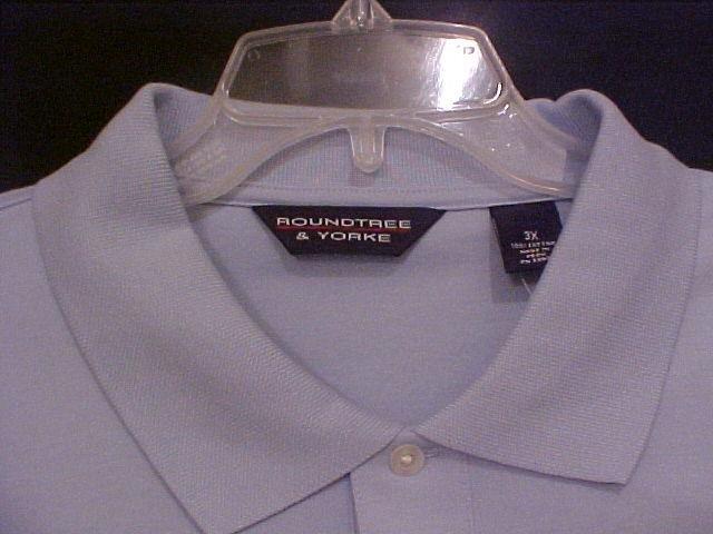 NEW Roundtree & Yorke Polo Golf S/S Size 3X 3XB Big Men's Clothing 914481