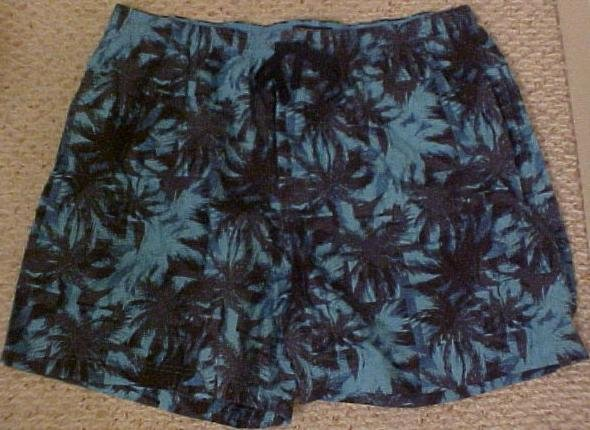 Big Mens Roundtree & Yorke Palm Tree Boxers Size 2X 2XL 2XB 915341