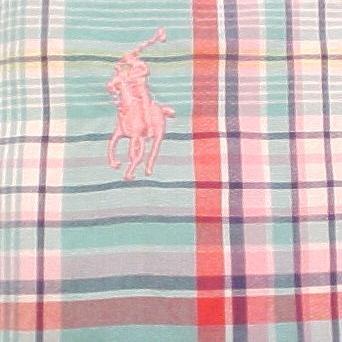 Big Tall Mens Ralph Lauren Short Sleeve Button Front Shirt 4XT 4XLT 915611